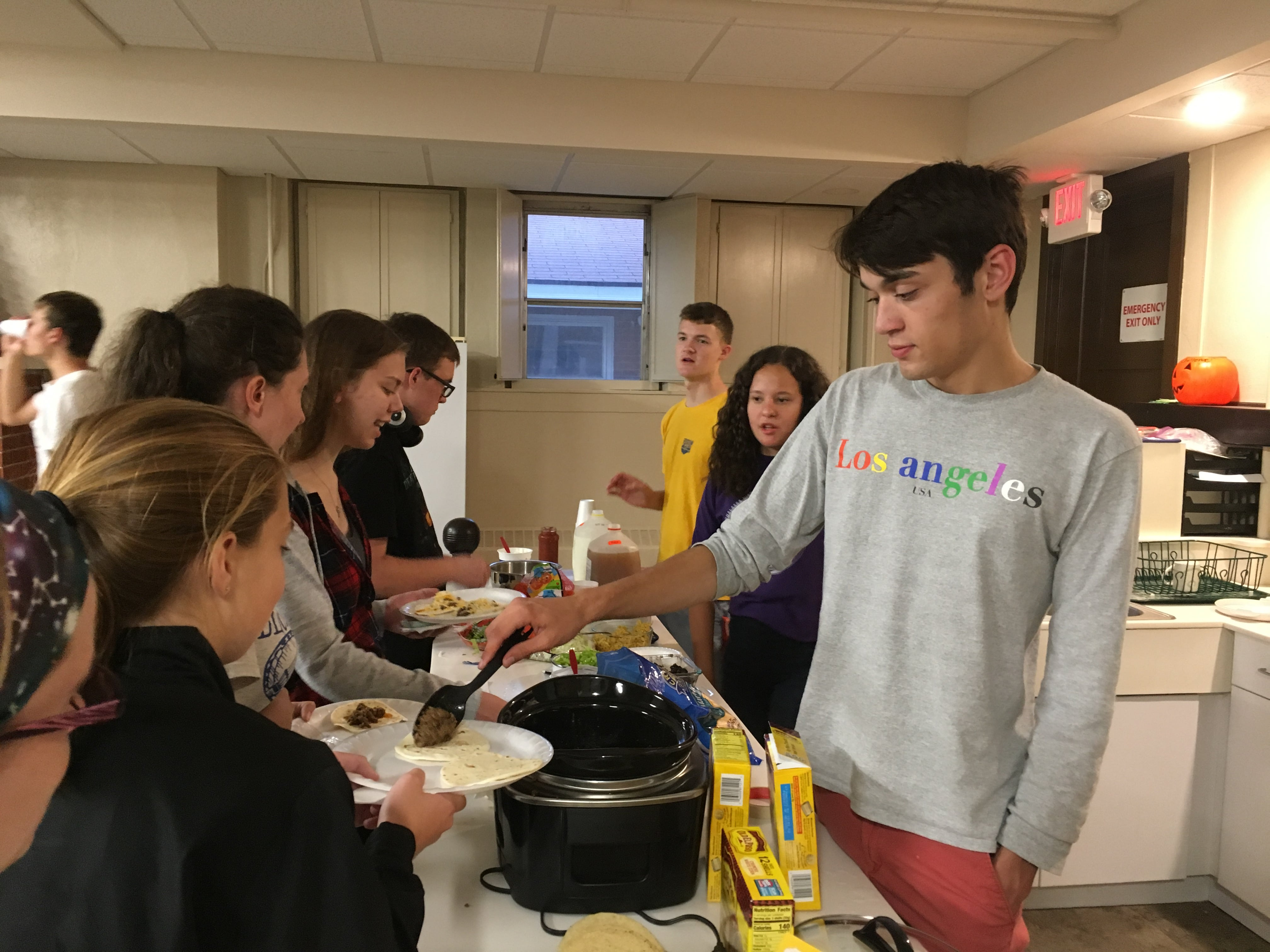 Serving Meals at Youth Group (Fall 2019)